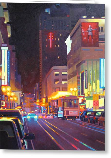Sell Art Online Greeting Cards - Starlight Greeting Card by Aaron Memmott
