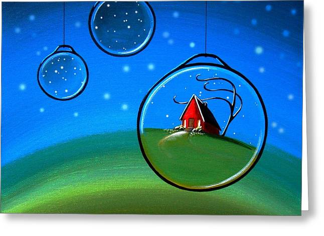 Blue House Greeting Cards - Starlight Greeting Card by Cindy Thornton