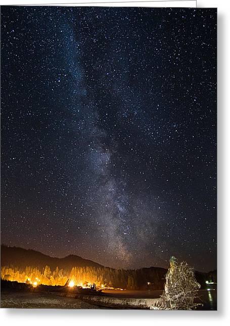 Port Renfrew Greeting Cards - Starlight Greeting Card by Heather K Jones