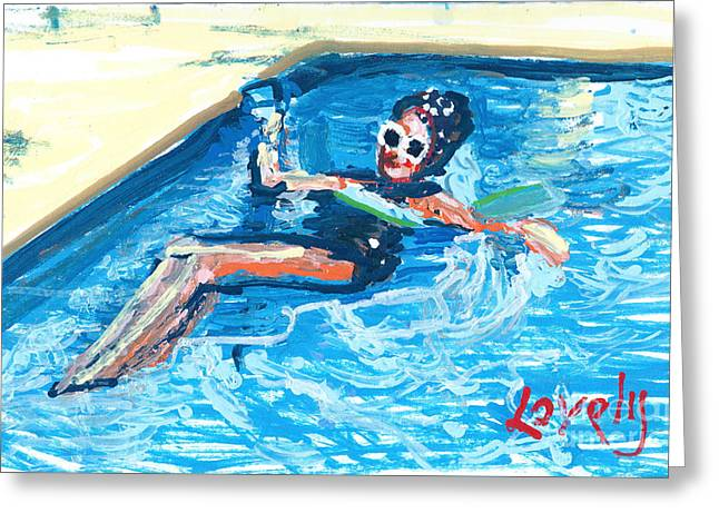 Starr Floating Greeting Card by Candace Lovely