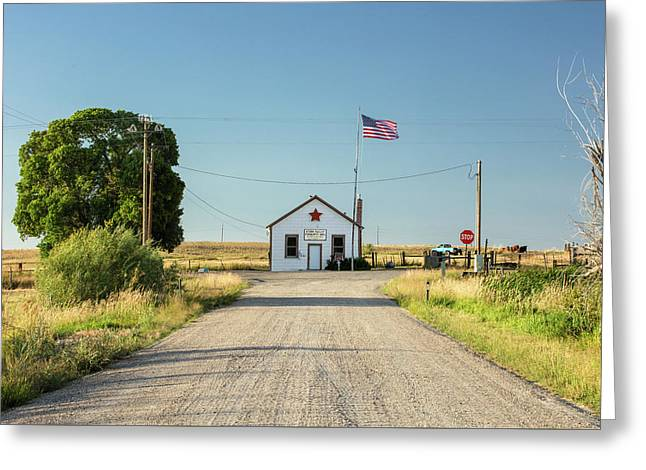Starr Valley Community Hall Greeting Card by Todd Klassy