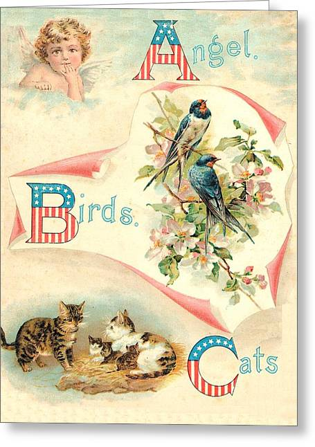 Jack And Jill Greeting Cards - Starry Flag 1899 ABC A Cover Greeting Card by Reynold Jay