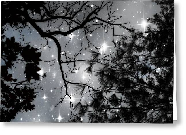 Starry Greeting Cards - Starry Night Sky Greeting Card by Marianna Mills
