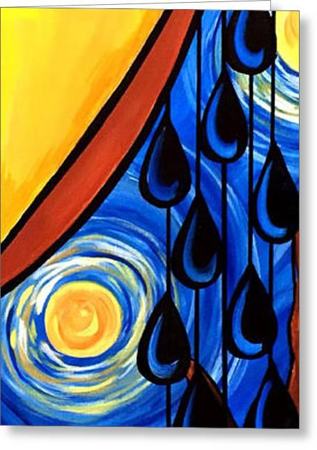 Van Gogh Style Greeting Cards - Starry Night Tears Greeting Card by Pam Reinke