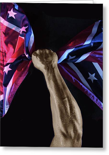 Confederate Flag Greeting Cards - Stars and Bars Greeting Card by Clifford Oliver