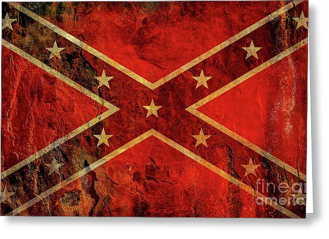 Stars And Bars Confederate Flag Greeting Card by Randy Steele
