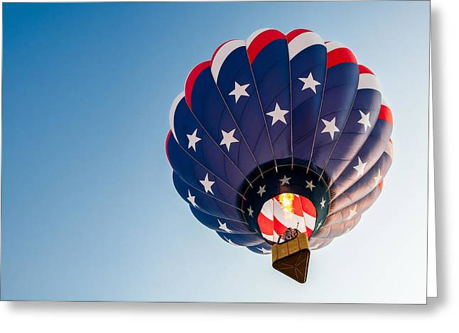 Stars And Stripes Above Greeting Card by Todd Klassy