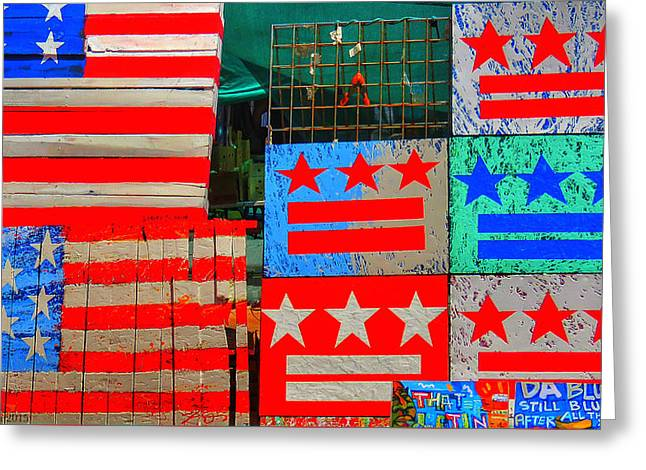 Wildlife Refuge. Greeting Cards - Stars and Stripes Greeting Card by Kathi Isserman