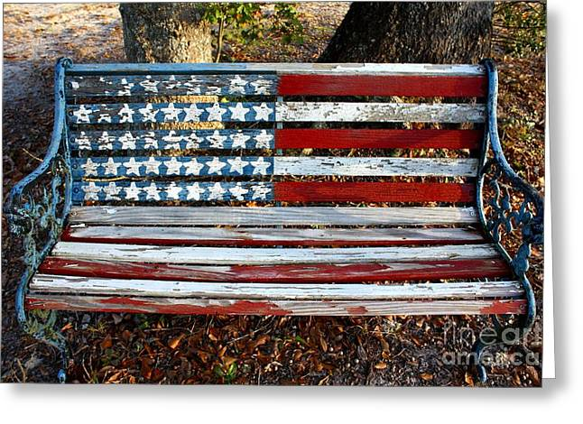 American Pride Greeting Cards - Stars and Stripes Greeting Card by M J Glisson