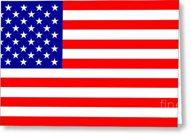 Scrart Greeting Cards - Stars and stripes Greeting Card by Steev Stamford