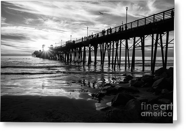 California Ocean Photography Greeting Cards - Stars and Swirls in Oceanside Greeting Card by Ana V  Ramirez