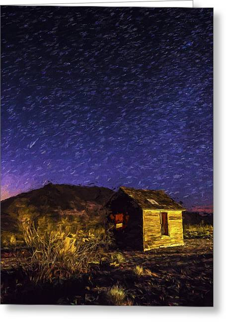 Stars At Death Valley II Greeting Card by Jon Glaser