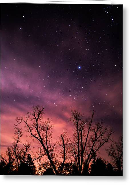Stars At Sunset Greeting Card by Shelby  Young