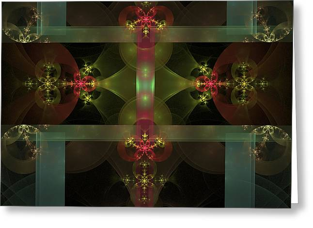 Star Tapestries - Textiles Greeting Cards - Stars behind Bars Greeting Card by Antoine Nehme