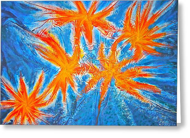 Stars Greeting Card by Marie Halter