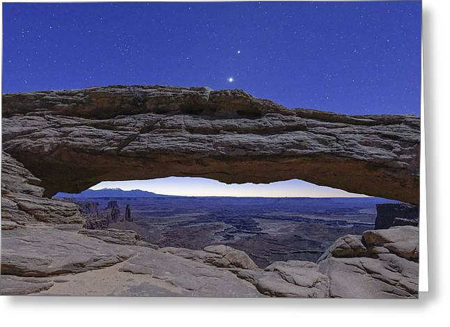 Stars Over Canyonland Greeting Card by Jon Glaser