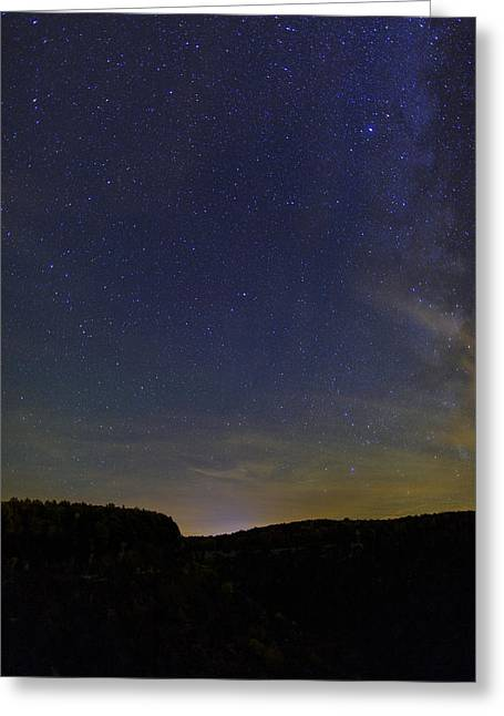 New York State Parks Greeting Cards - Stars Over Letchworth Greeting Card by Rick Berk