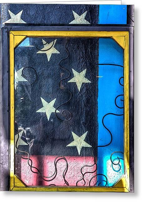 Wnc Greeting Cards - Stars Stripes and a Frame Greeting Card by John Haldane