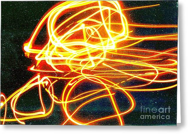 Abstract Digital Light Trails Greeting Cards - Starseed Greeting Card by Xoey HAWK