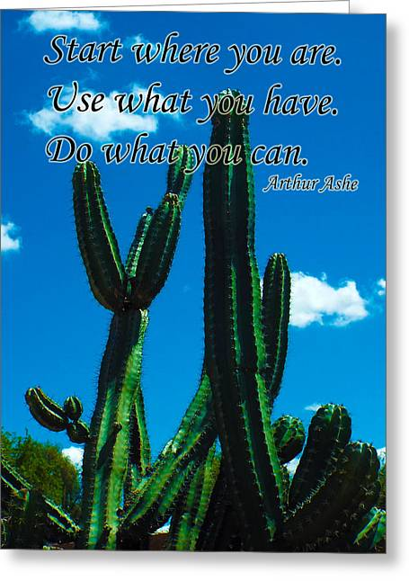 Start Where You Are Greeting Card by Judi Saunders