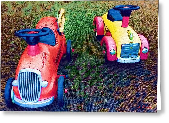 Steering Greeting Cards - Start Your Engines Greeting Card by Alec Drake