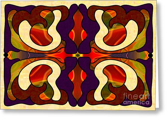 Starting New Abstract Art By Omashte Greeting Card by Omaste Witkowski