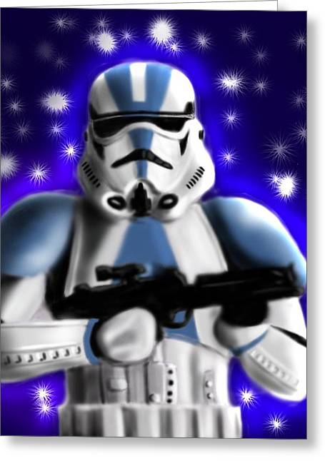 Starwars. Stormtrooper Greeting Card by Sandra Geis
