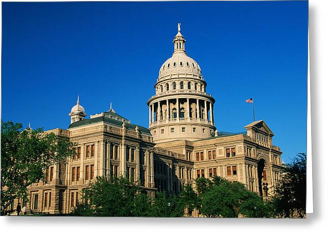 Austin Landmarks Greeting Cards - State Capitol Building Austin Tx Greeting Card by Panoramic Images