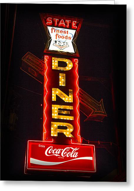 State Diner - Ithaca Ny Greeting Card by Stephen Stookey