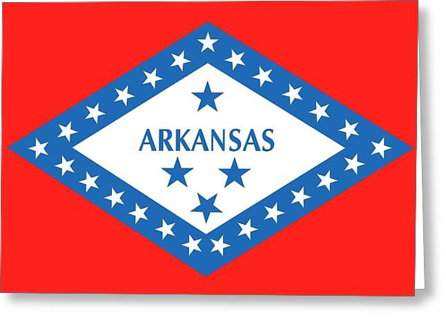 State Flag Of Arkansas Greeting Card by American School