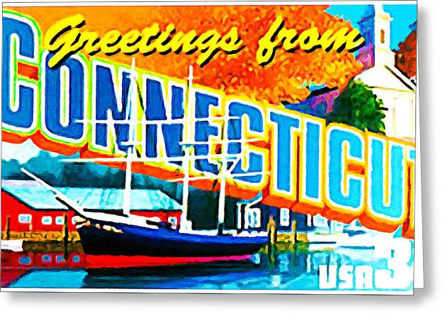 State Of Connecticut Greeting Card by Lanjee Chee