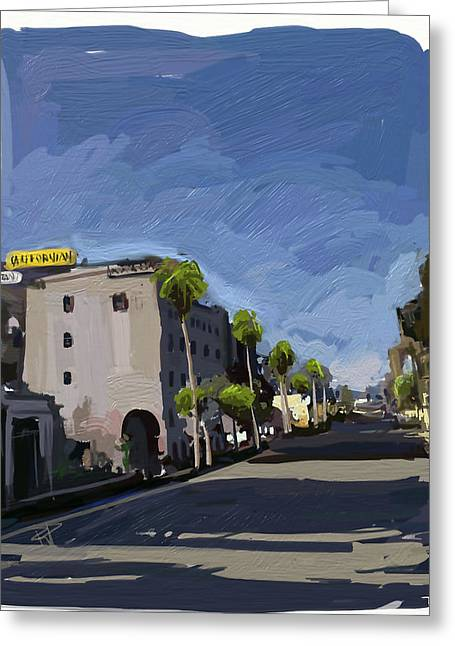State Street Greeting Card by Russell Pierce