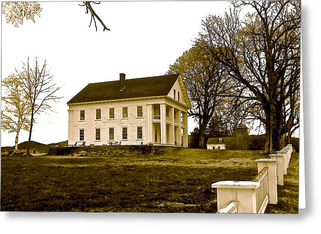 Outbuildings Greeting Cards - Stately Mansion Greeting Card by Elizabeth Tillar