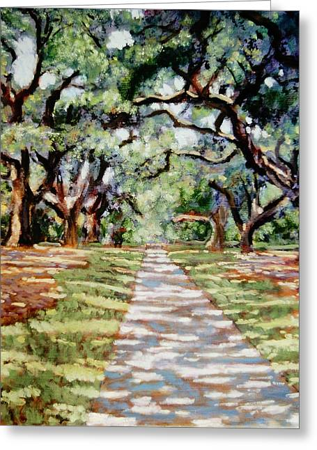 The Trees Greeting Cards - Stately Oaks Greeting Card by David Zimmerman