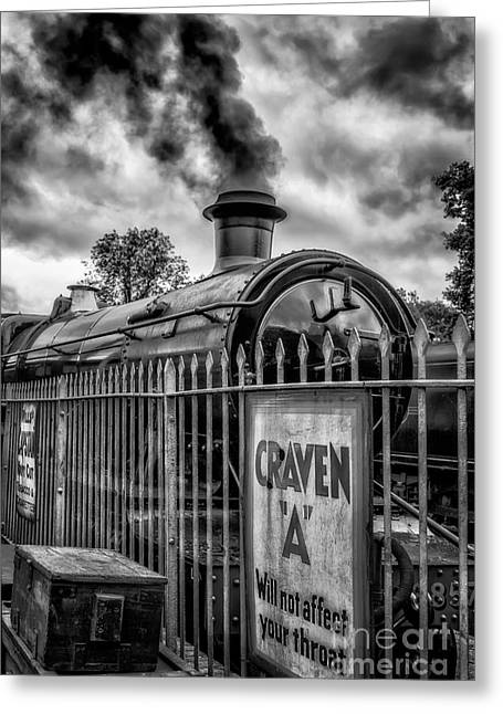 Wooden Platform Greeting Cards - Station Sign Greeting Card by Adrian Evans