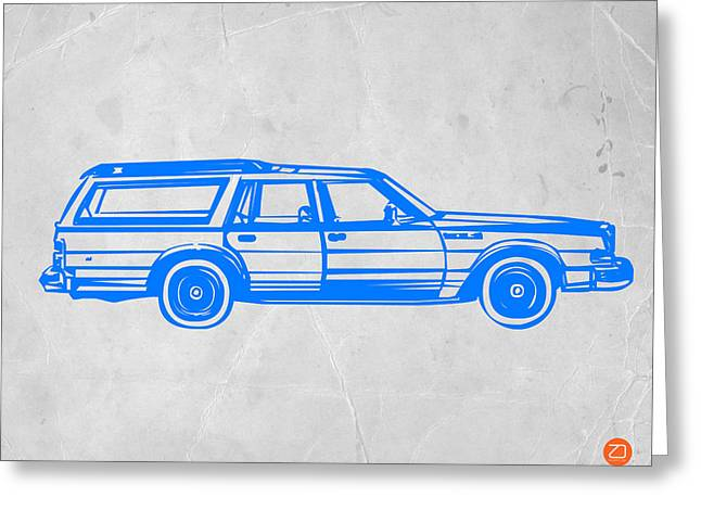 Kid Greeting Cards - Station Wagon Greeting Card by Naxart Studio