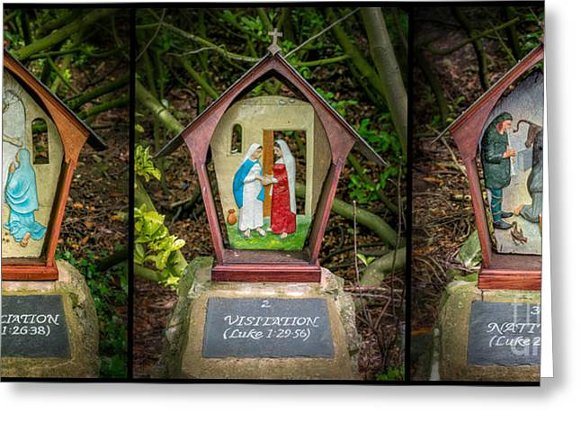 Crucifix Greeting Cards - Stations of the Cross 1 Greeting Card by Adrian Evans