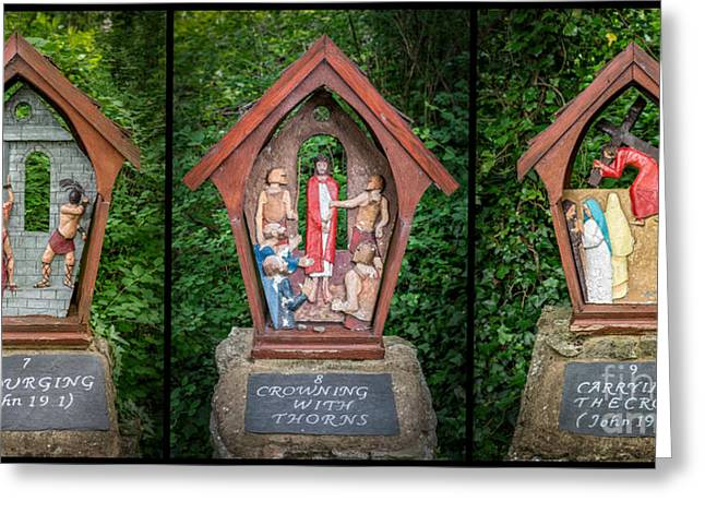 Christ Child Greeting Cards - Stations of the Cross 3 Greeting Card by Adrian Evans
