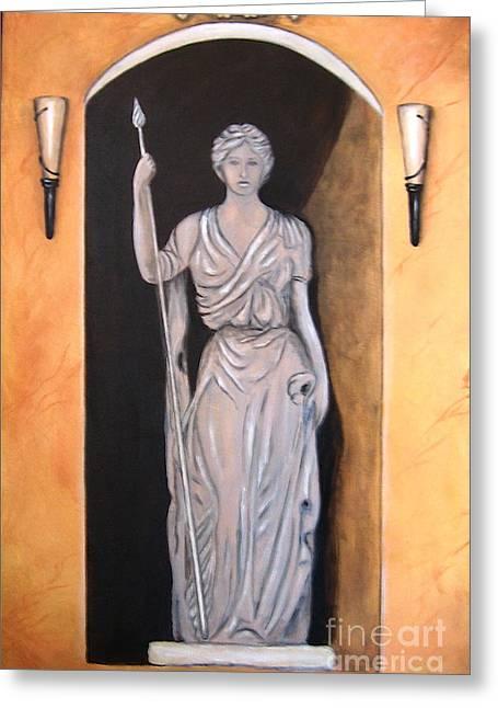 Italian Art Paintings Greeting Cards - Statua Romana Greeting Card by Italian Art