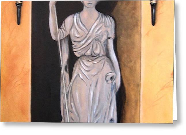 Statua Romana Greeting Card by ITALIAN ART