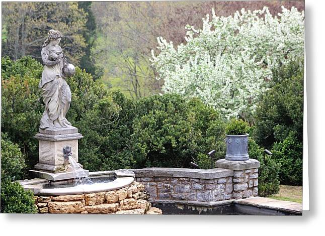 Statue At Cheekwood Greeting Card by Gayle Miller