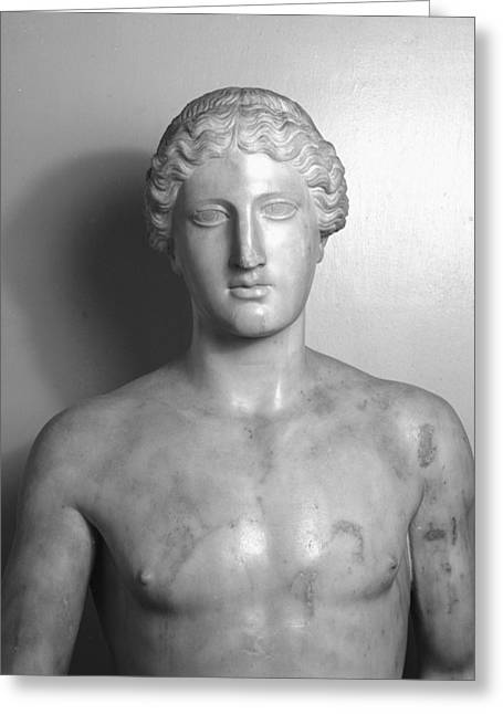 Sculptures Sculptures Greeting Cards - Statue of Apollo Greeting Card by Roman School