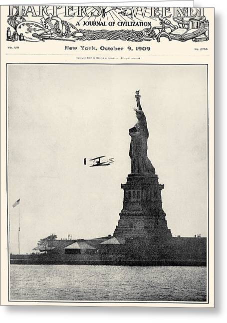 Carousel Collection Greeting Cards - Statue Of Liberty, 1909 Greeting Card by Granger