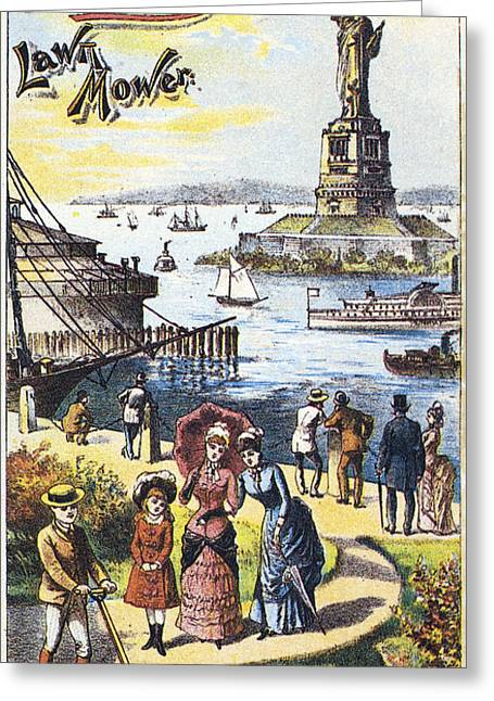 Trade Card Greeting Cards - Statue Of Liberty: Ad Greeting Card by Granger