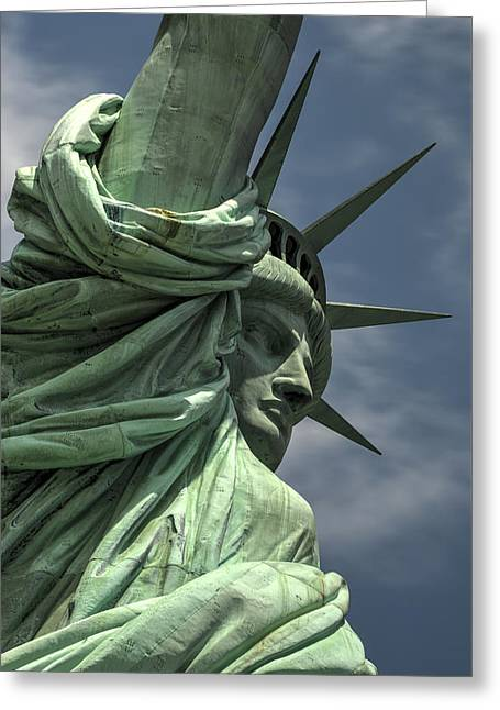 Historic Statue Greeting Cards - Statue of Liberty Greeting Card by Felix Lipov
