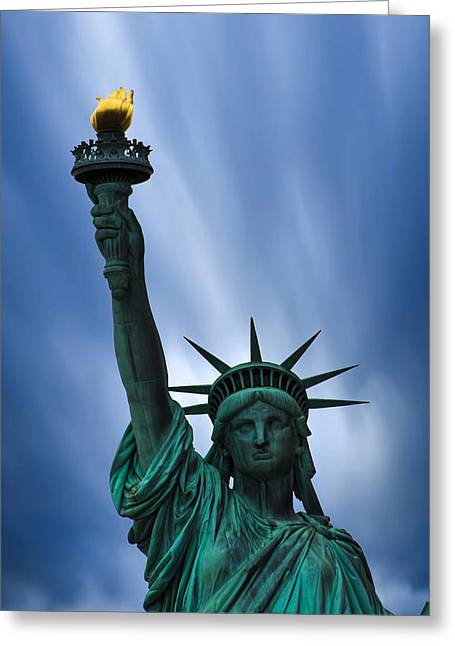 Liberty Island Greeting Cards - Statue of Liberty Greeting Card by Martin Newman