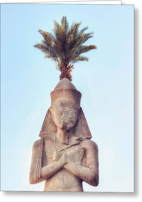 Pharaoh Greeting Cards - statue of Ramses Greeting Card by Joana Kruse