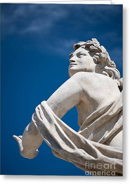 Statue With Polarising Filter Greeting Card by Arletta Cwalina