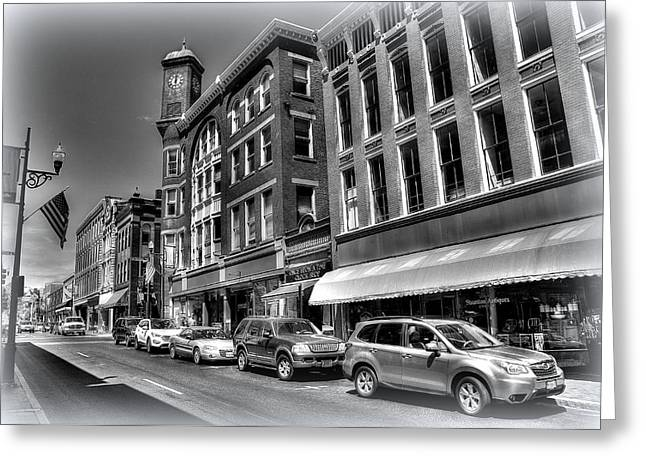 Stop Light Greeting Cards - Staunton Down Town 2 Greeting Card by Todd Hostetter