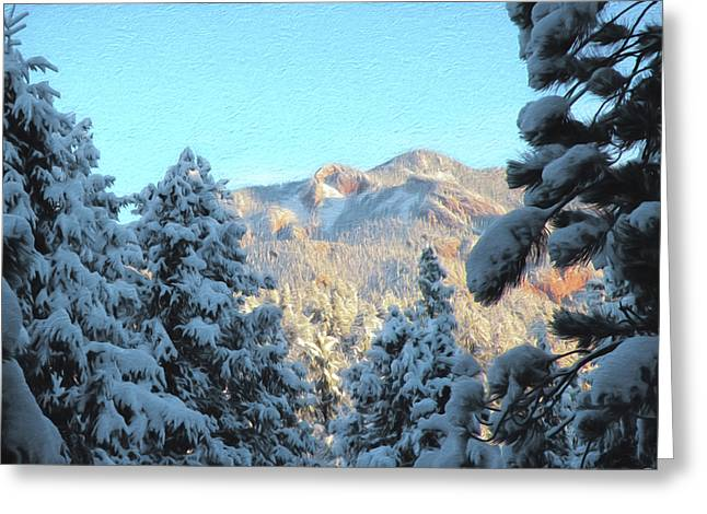Staunton Mountain Greeting Card by Steven  Michael